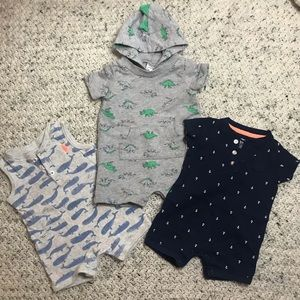 Other - 3 Carter's Short's Bodysuits